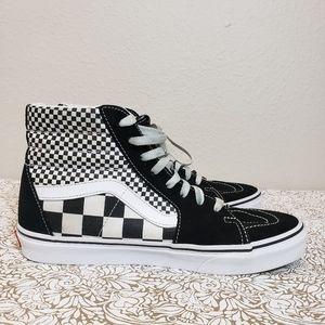 Vans Old Skool SK8-HI Checkered Hi Tops Unisex